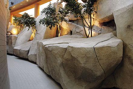 Rivestimento di rocce artificiali